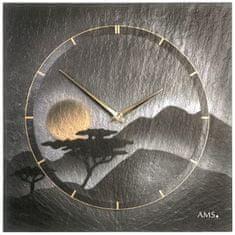 AMS design Designové nástěnné břidlicové hodiny 9514 AMS 30cm