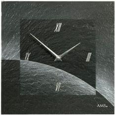 AMS design Designové nástěnné břidlicové hodiny 9518 AMS 30cm