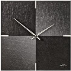 AMS design Designové nástěnné břidlicové hodiny 9520 AMS 30cm
