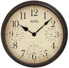 AMS design Nástěnné hodiny 9463 AMS meteostanice 42cm