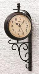 AMS design Nástěnné hodiny s teploměrem 5961 AMS řízené rádiovým signálem 38cm