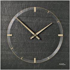 AMS design Designové nástěnné břidlicové hodiny 9516 AMS 30cm