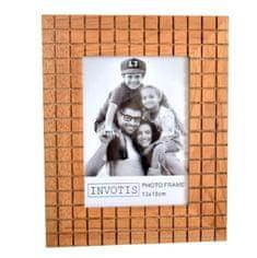 Invotis Fotorámeček Wood Square BD26, 13x18cm