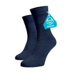 BENAMI Modré ponožky MERINO Modrá Merino 35-38