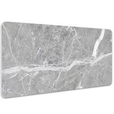 Kobercomat Velká podložka na stůl šedý mramor 100x50cm