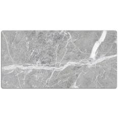 Kobercomat Velká podložka na stůl šedý mramor 120x60cm