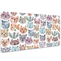 Kobercomat Velká ochranná podložka na stůl kočky akvarel 100x50cm