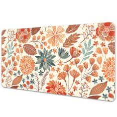 Kobercomat Pracovní podložka na stůl umělecké květiny 90x45cm