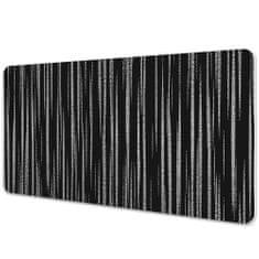 Kobercomat Podložka na psací stůl černý design 90x45cm