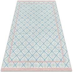 Kobercomat Módne univerzálny vinylový koberec modrej čiary
