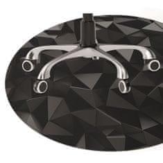 Kobercomat Podložka pod kancelářskou židli abstrakce black