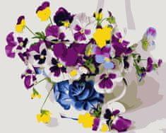 Kouzelný Art Malování podle čísel Fialky ve váze