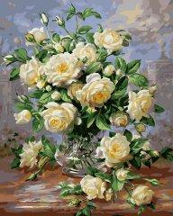 Kouzelný Art Malování podle čísel Bílé růže