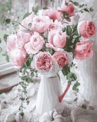 Kouzelný Art Malování podle čísel Něžná růž