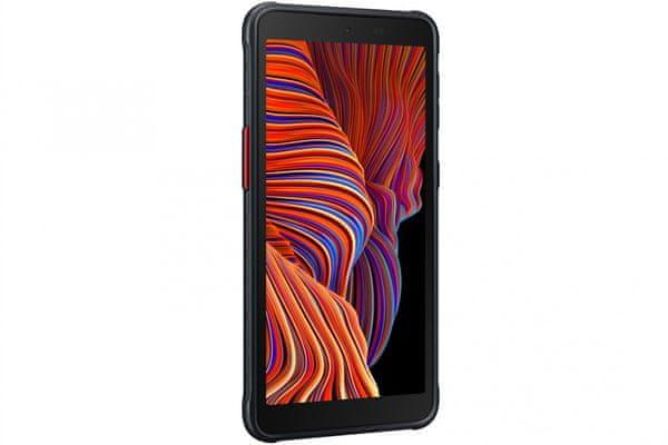 outdoorový mobilní telefon samsung galaxy xcover 5 16mpx zadní fotoaparát 5mpx přední fotoaparát lte připojení wifi Bluetooth 5.0 tft displej dotykový osmijádrový procesor exynos 850 android operační systém ip68 gorilla glass ochranné sklo 6