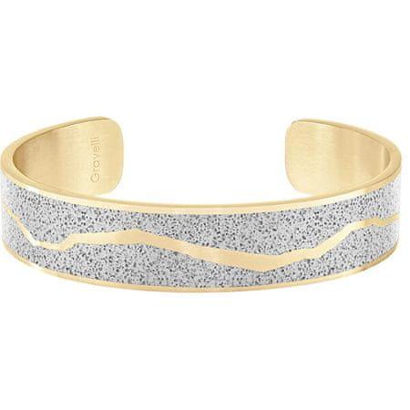 Gravelli Szilárd acél karkötő Split Split arany / szürke GJBWYGG102UN