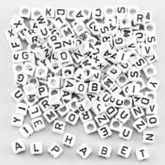 Baker Ross Černobílé korálky s abecedou (tuba 750 ks)