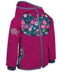 Unuo Cvjetne softshell jakna za djevojčice, nepodložene