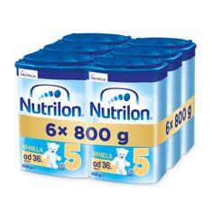 Nutrilon 5 Vanilla dětské mléko 6x 800g, 36+