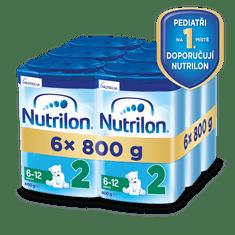 Nutrilon 2 pokračovací kojenecké mléko 6x 800g, 6+