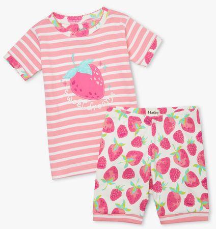 Hatley lány pizsama organikus pamutból Delicious Berries S21FSK217, 110, rózsaszín
