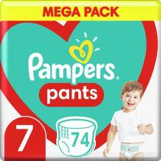 Pampers Plienkové nohavičky Pants Veľkosť 7, 74 ks, 17kg+