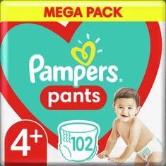 Pampers Bugyipelenka Pants 4+ -os méret, 102 db
