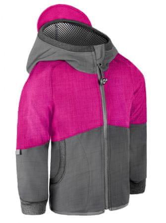 Unuo Street lány softshell kabát bambusz jersey-vel, 98/104, rózsaszín