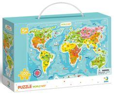Dodo Toys puzzle Karta svijeta, 100 komada