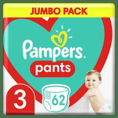 Pampers Pants bugyipelenka, nagyság 3, 62 db, 6kg-11kg
