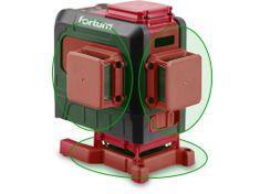Fortum laser zelený 3D liniový, křížový samonivelační