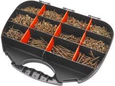 Extol Craft vruty do dřeva 12 rozměrů, sada 2000ks