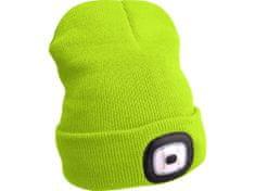 Extol Light čepice s čelovkou 45lm, nabíjecí, USB, fluorescentní žlutá