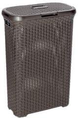 CURVER košara za rublje Rattan, 40 l, tamno smeđa