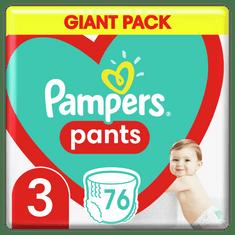 Pampers Plienkové Nohavičky Pants Veľkosť 3, 76 ks, 6kg-11kg