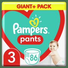 Pampers Plienkové Nohavičky Pants Veľkosť 3, 86 ks, 6kg-11kg