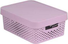 CURVER Infinity kutija za pohranu s poklopcem, roza s točkama, 11 l