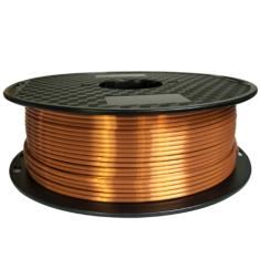 Miroluk Tisková struna PLA pro 3D tiskárny, 1,75mm, 1kg, hedvábně - měděná
