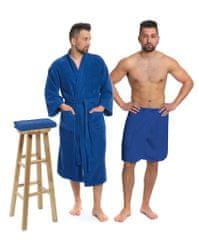 Interkontakt Sada Navy Blue: župan s kapucí + pánský saunový kilt + osuška Velikost županu XXL