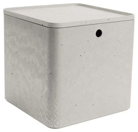 CURVER tárolódoboz beton szín, XL méretű, fedővel