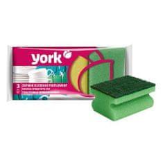 York Hubka York 031010, špongia na riad, ergonomická, 9x7x4,3 cm bal. 3 ks