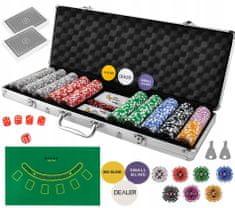Sada na Poker v kufríku - 500 žetónov