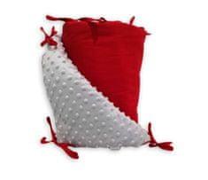 GObaby Mantinel oboustranný s MINKY-červená+ VLASTNÍ VÝBĚR BARVY MINKY Vzorník MINKY: Světle šedá