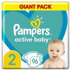 Pampers Active Baby Pelenka, 2-es méret, 96 db, 4-8kg