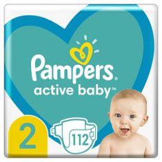 Pampers Active Baby Plienky Veľkosť 2 112 ks, 4kg - 8kg