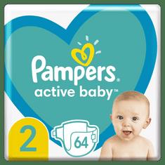 Pampers Active Baby Pelenka, 2-es méret, 64 db, 4-8kg