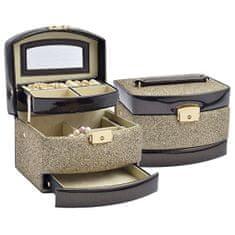Jan KOS Brązowe pudełko na biżuterię SP-8073 / A21