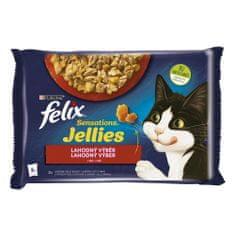 Felix Sensations Jellies s hovädzím a kuraťom v lahodnom želé 4 x 85 g