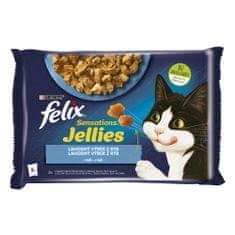 Felix Sensations Jellies lazaccal és tonhallal finom zselében 12(4x85g)