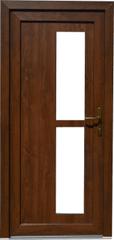 BS okna Plastové vchodové dveře v barvě ořech, pravé